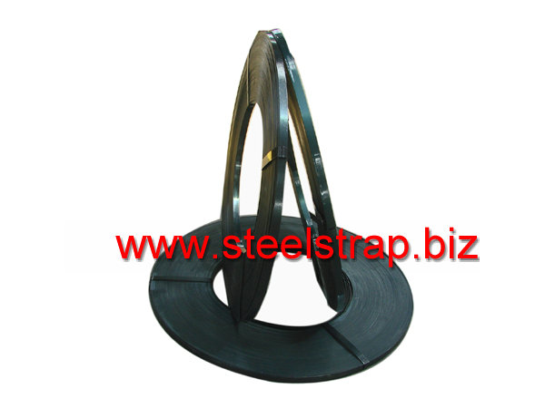 Blue tempered steel strapping (ribbon)
