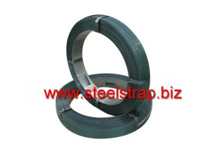 Blue tempered steel strapping (oscillated)