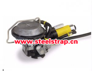 Pneumatic combination of steel strapping tool